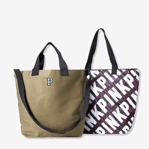 PINK VS 2-in-1 Tote Bag and Insulated Cooler Set